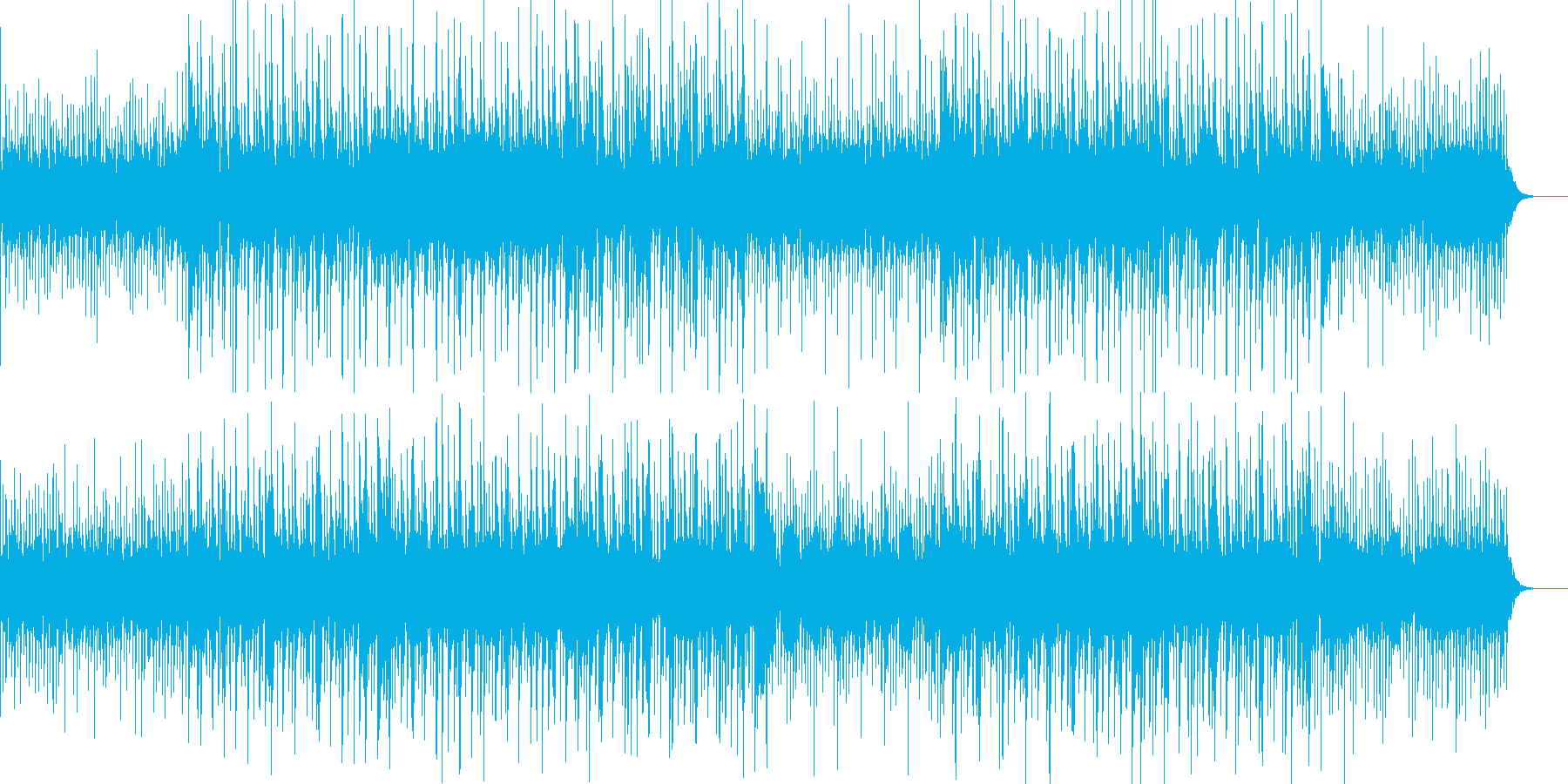 ヒーリング音楽っぽい気持ちのいいBGMの再生済みの波形