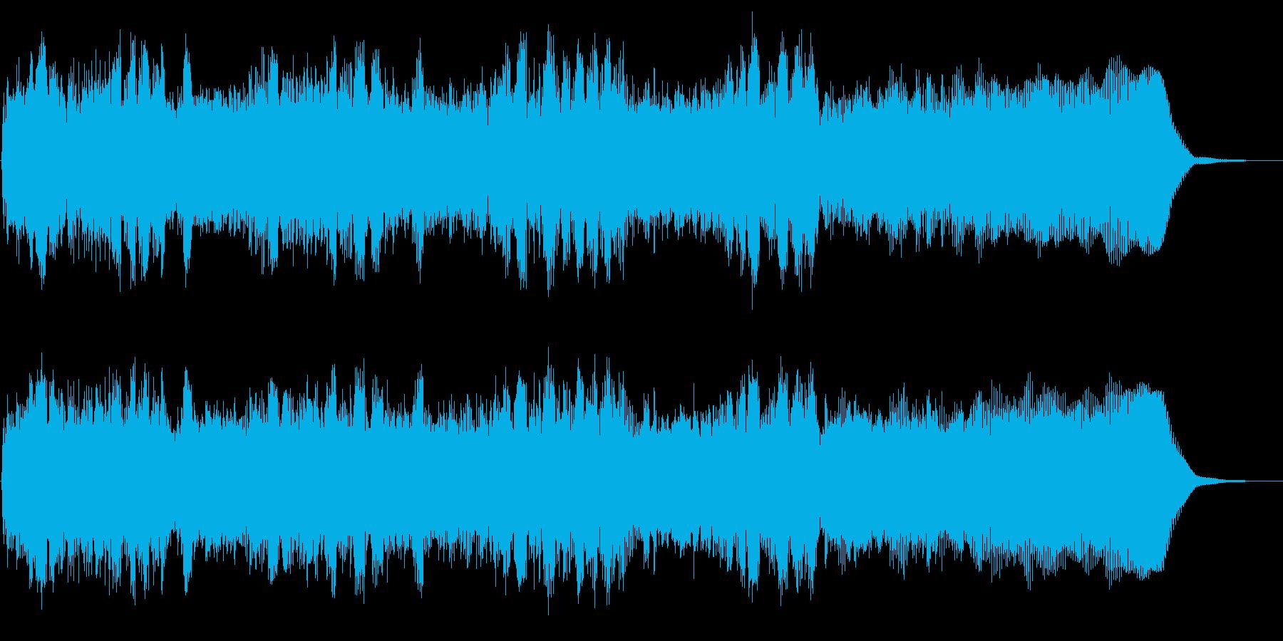 メタルのリズムギター 攻撃的バッキングBの再生済みの波形