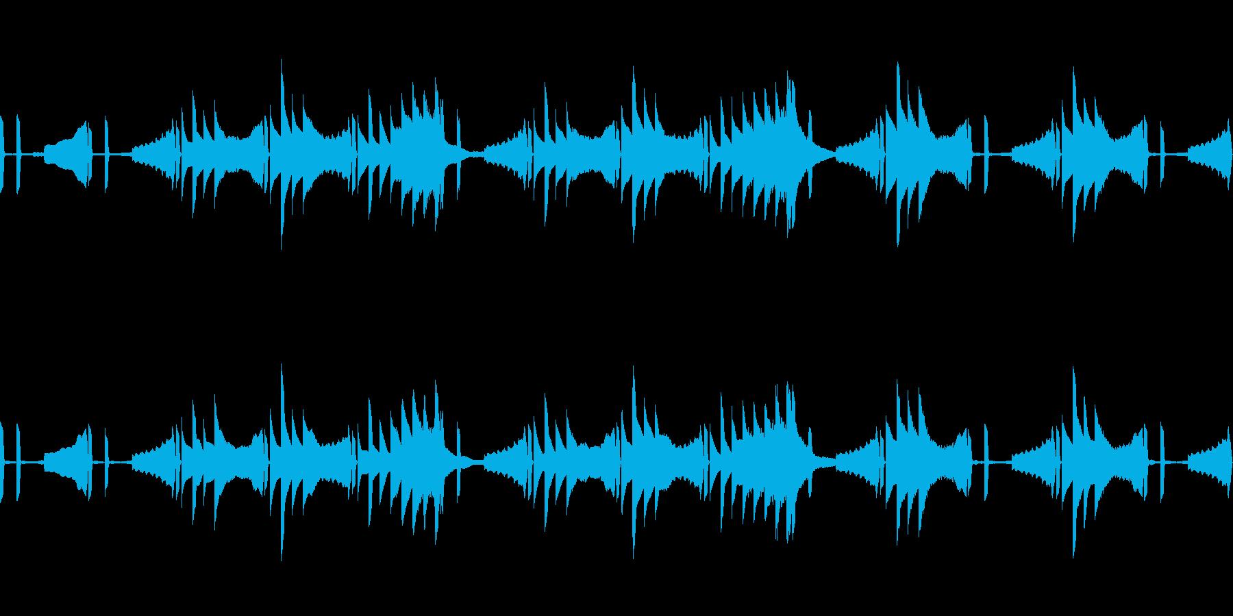 夜をイメージしたシンプルなアンビエントの再生済みの波形