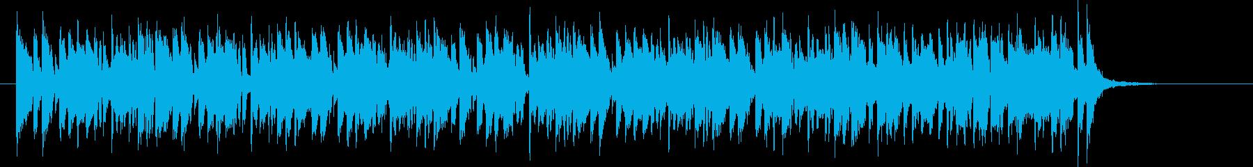 ホーンシンセの軽やかポップスの再生済みの波形
