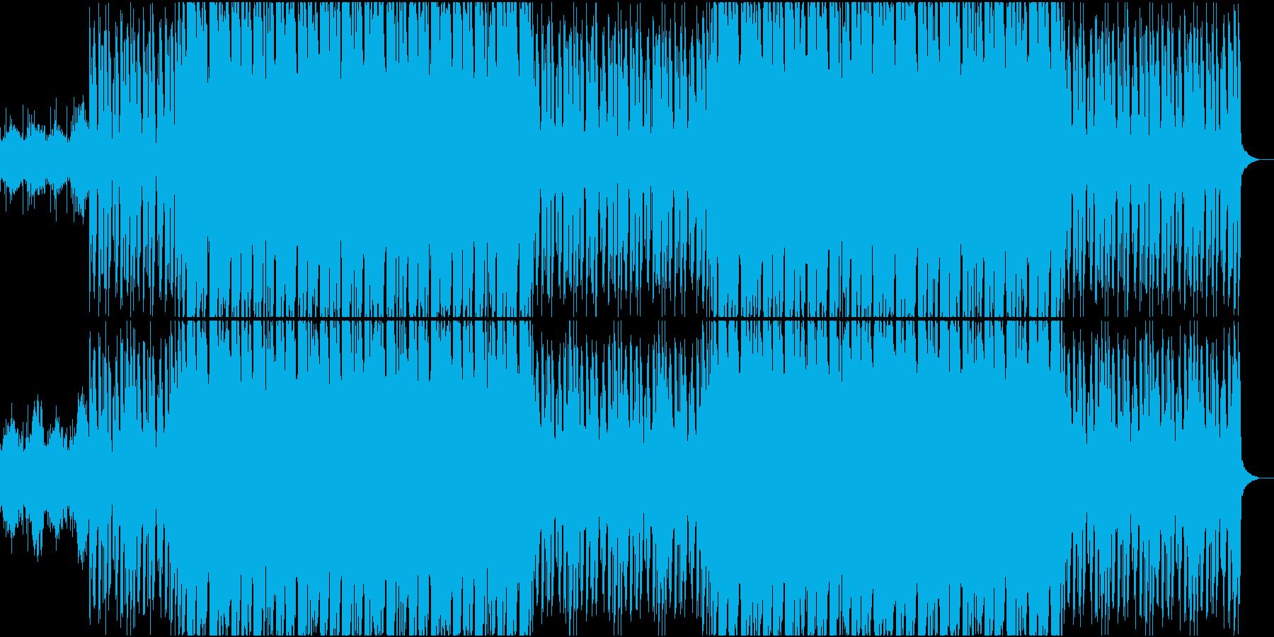 サイバーで怪しいインダストリアルサウンドの再生済みの波形