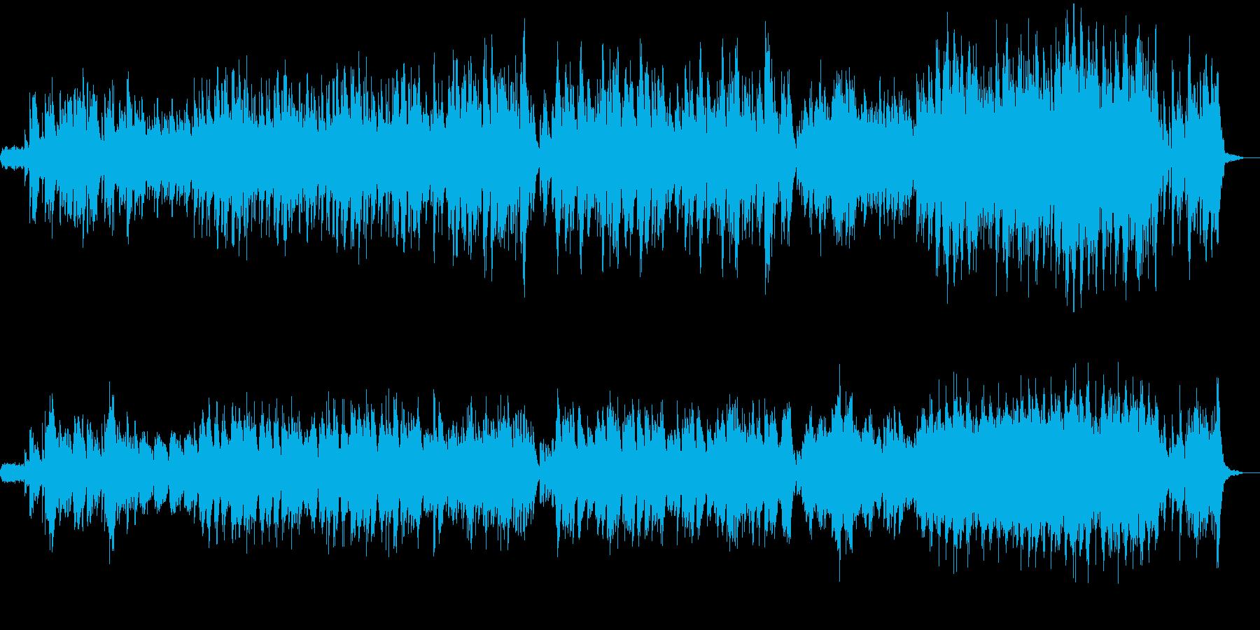 幻想的なハープの再生済みの波形