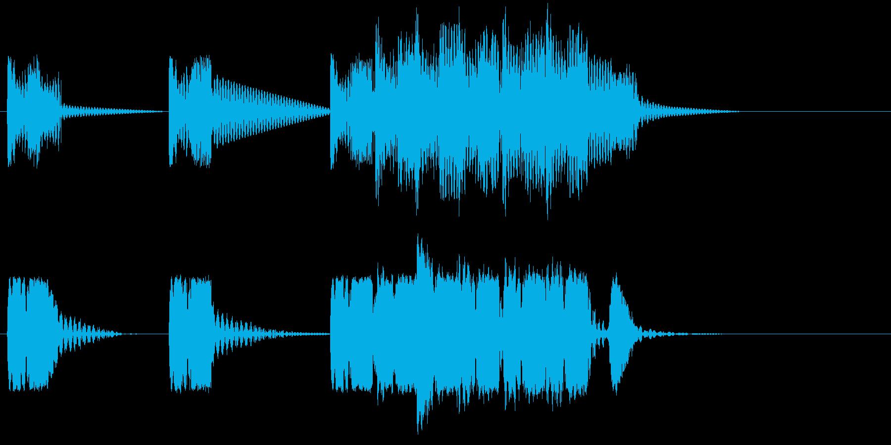 ロボットサウンド 機械音3の再生済みの波形