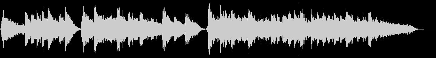フルートとピアノのほのぼのBGMの未再生の波形