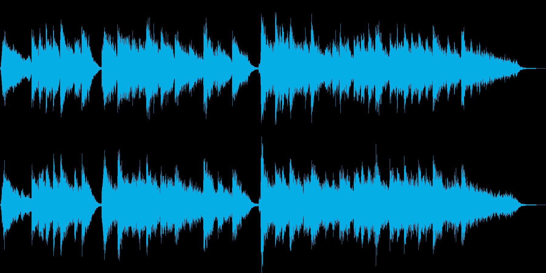 フルートとピアノのほのぼのBGMの再生済みの波形