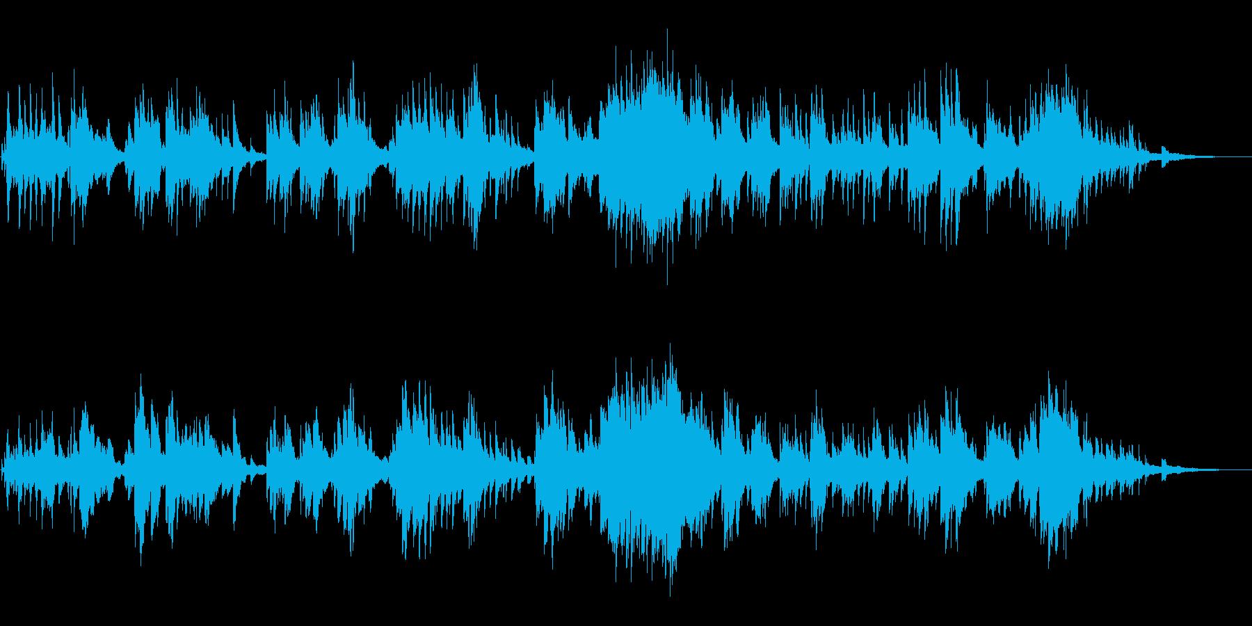 グランドピアノによる穏やかなピアノソロの再生済みの波形