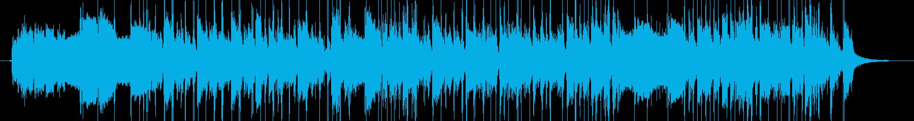ロックベースサウンドの転換ジングルの再生済みの波形