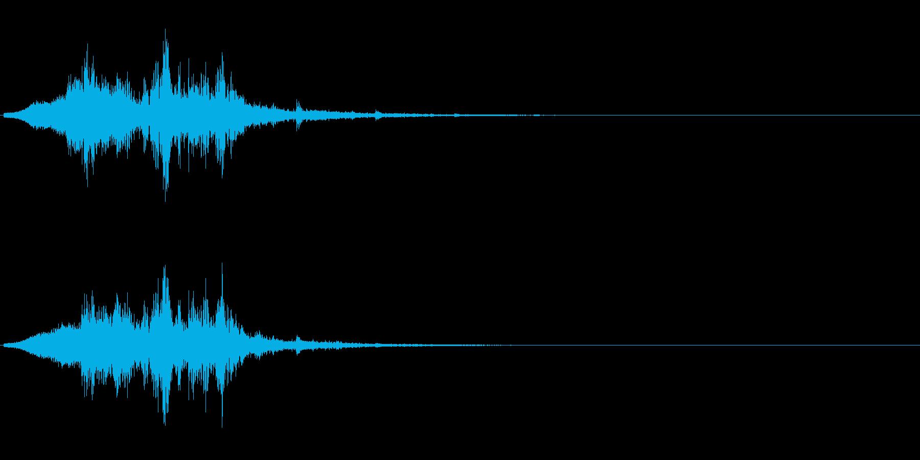 氷が砕けて飛び散る音の再生済みの波形
