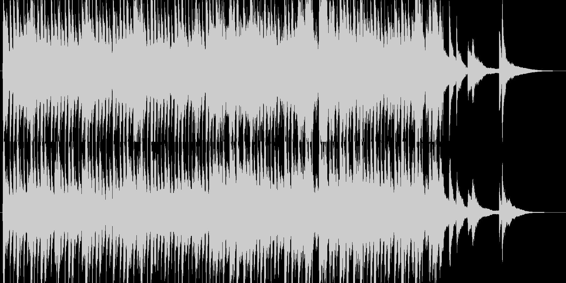 さわやかな朝をイメージしたピアノ曲の未再生の波形