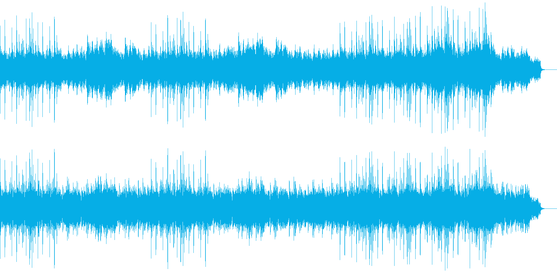 「爽やかな古都の風」琴の音色の優しい調べの再生済みの波形