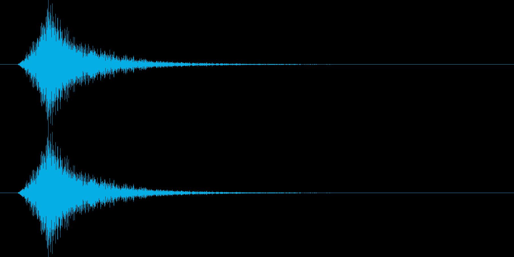 【SE】風切り音03(シュー 短い強い)の再生済みの波形