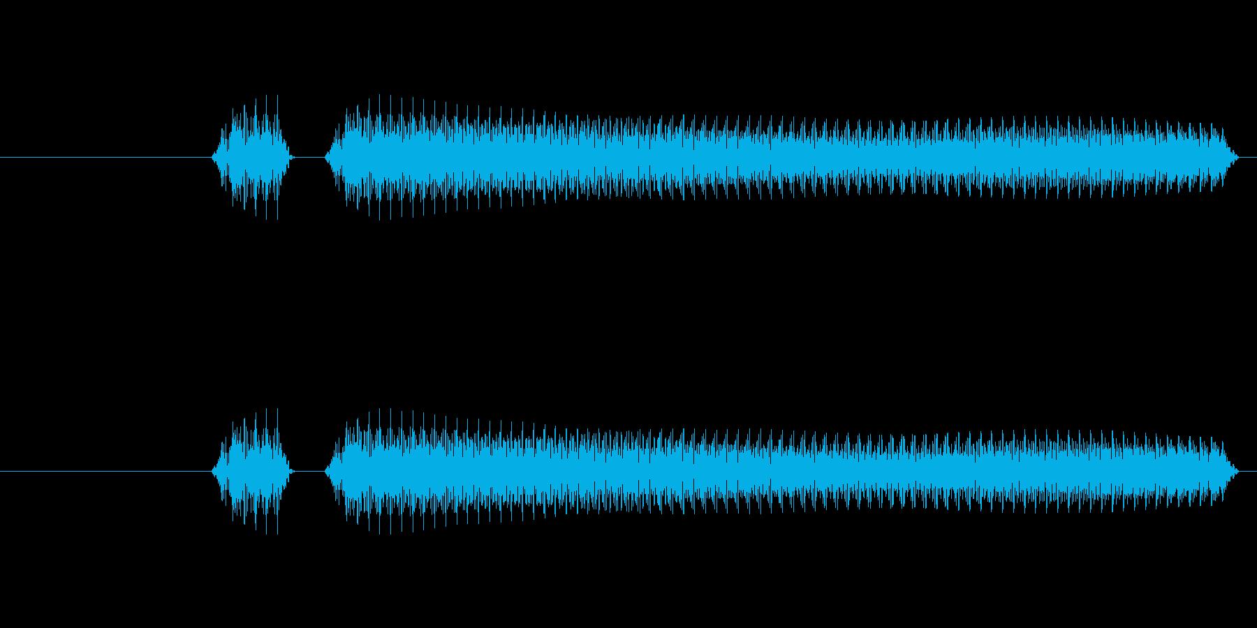 「ブブーッ」という不正解の効果音です。の再生済みの波形