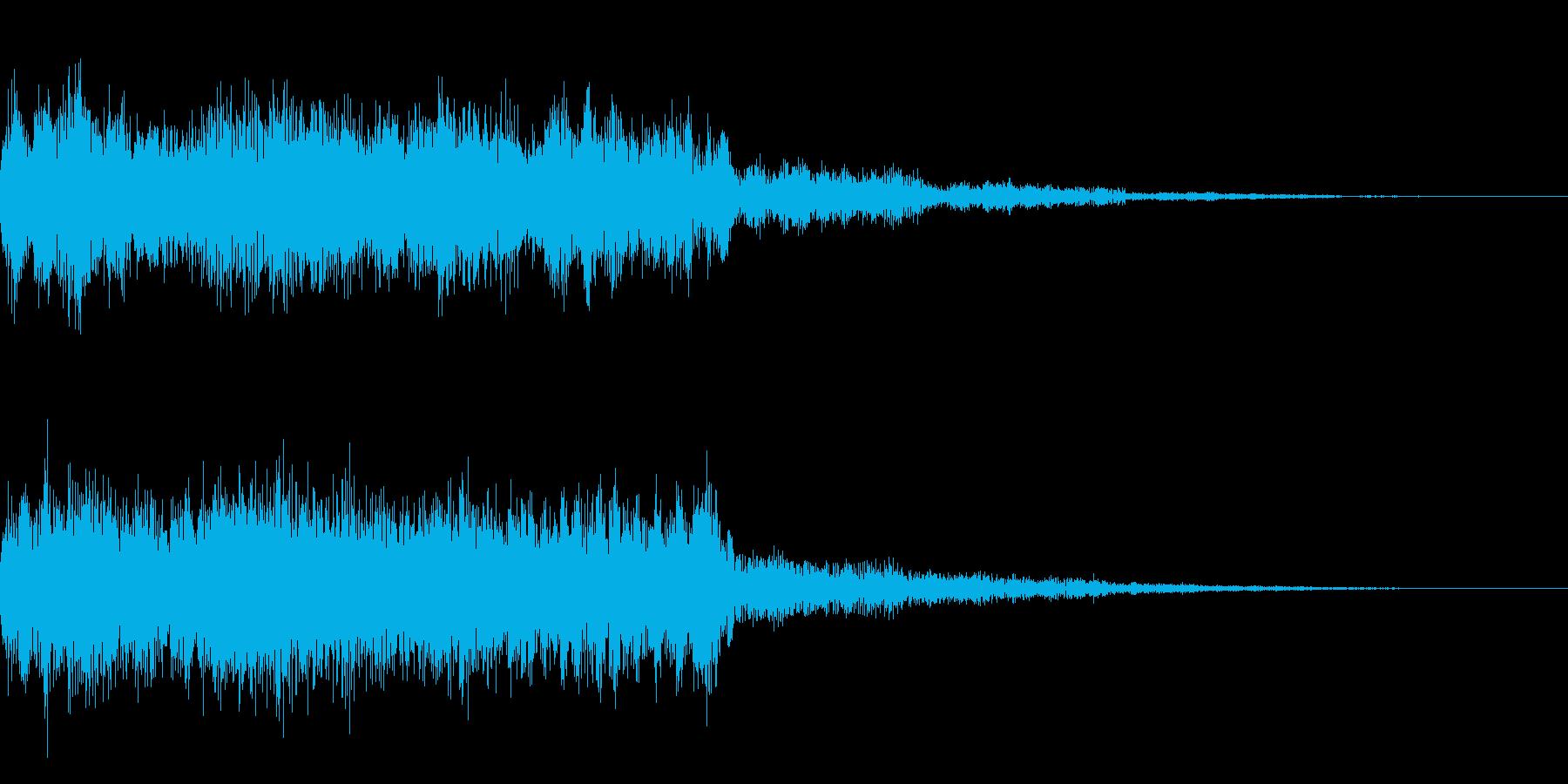 レトロなゲームオーバー音 残念 不正解の再生済みの波形
