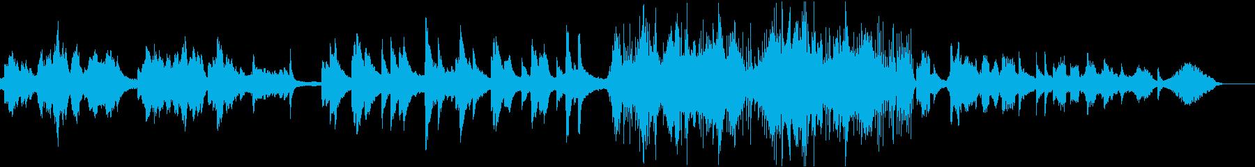 悲しめの回想曲の再生済みの波形