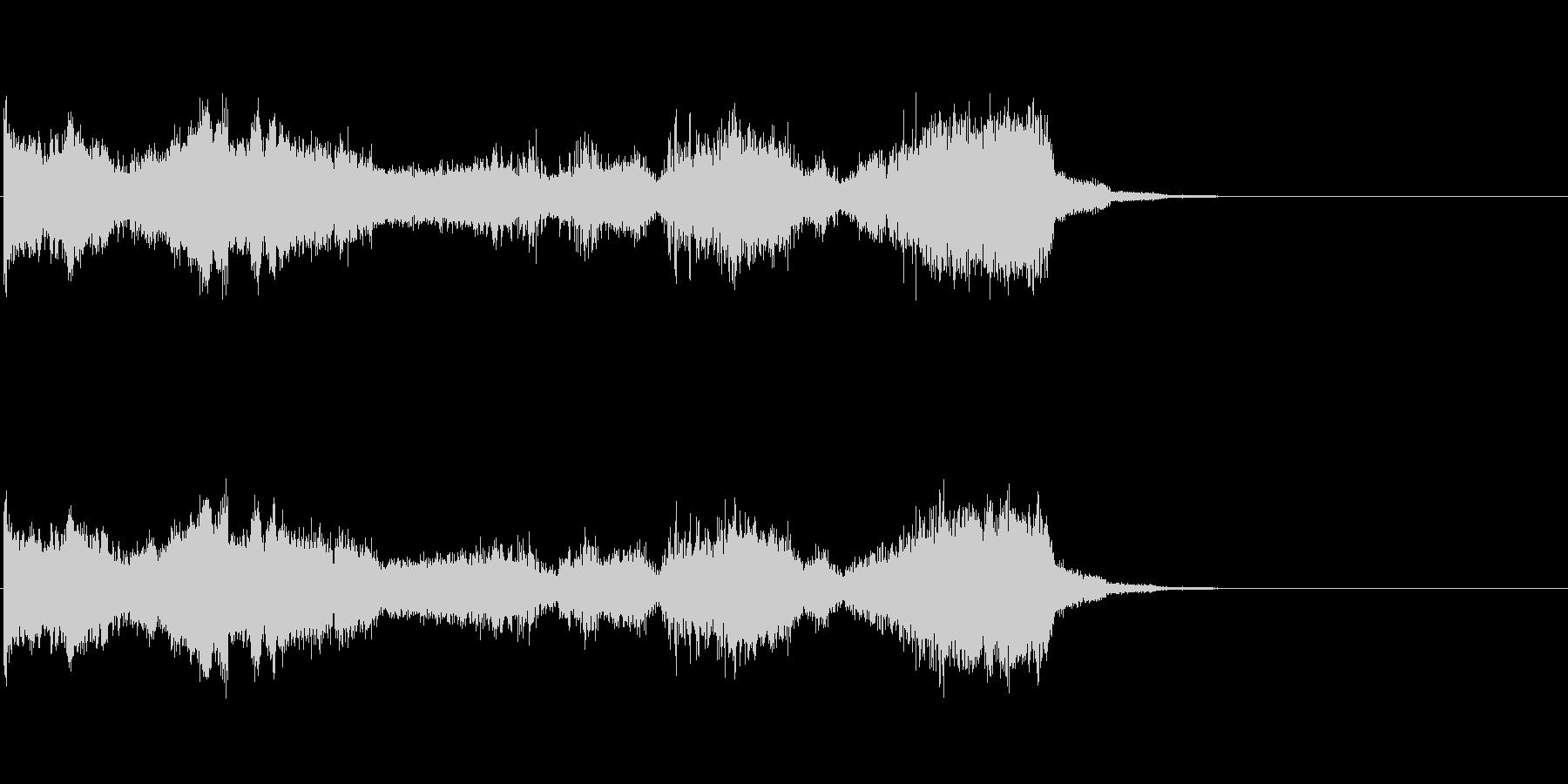 グリッチノイズ。次元の激しい歪みが生じるの未再生の波形