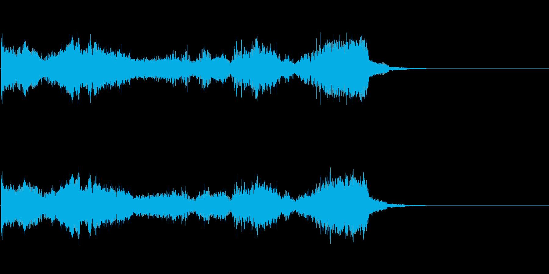 グリッチノイズ。次元の激しい歪みが生じるの再生済みの波形