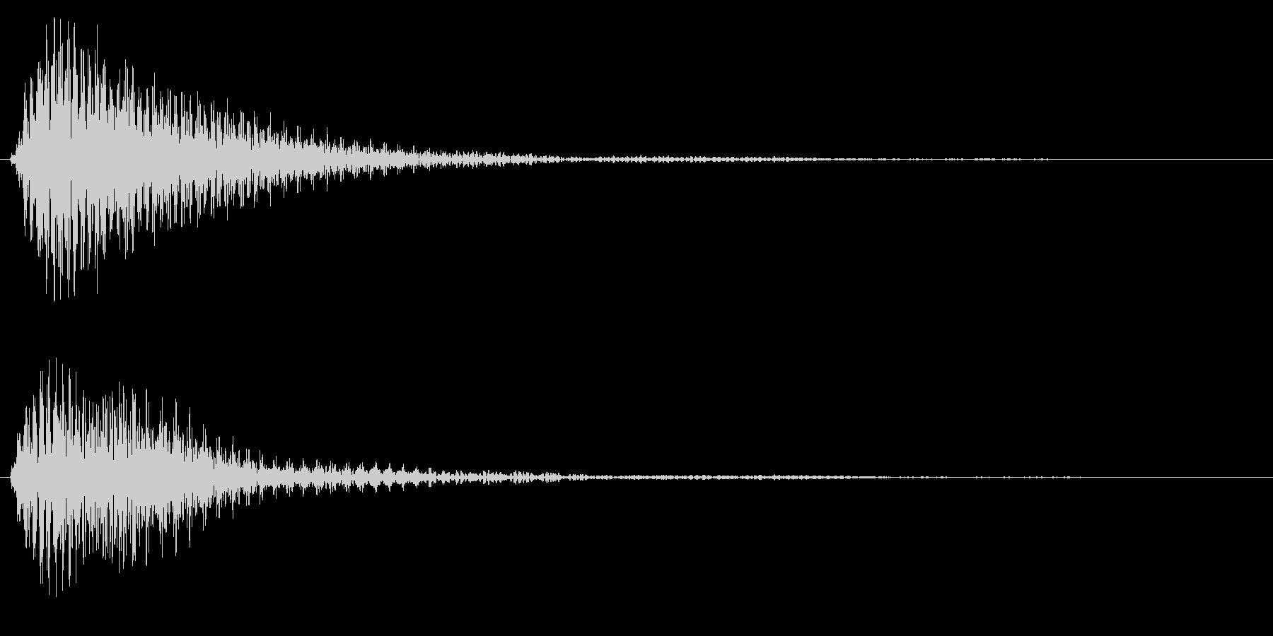 タッチ音/ポン/木琴の未再生の波形
