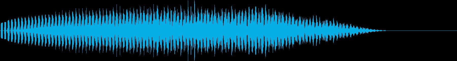 宇宙船が飛び去るような高音の電子音の再生済みの波形
