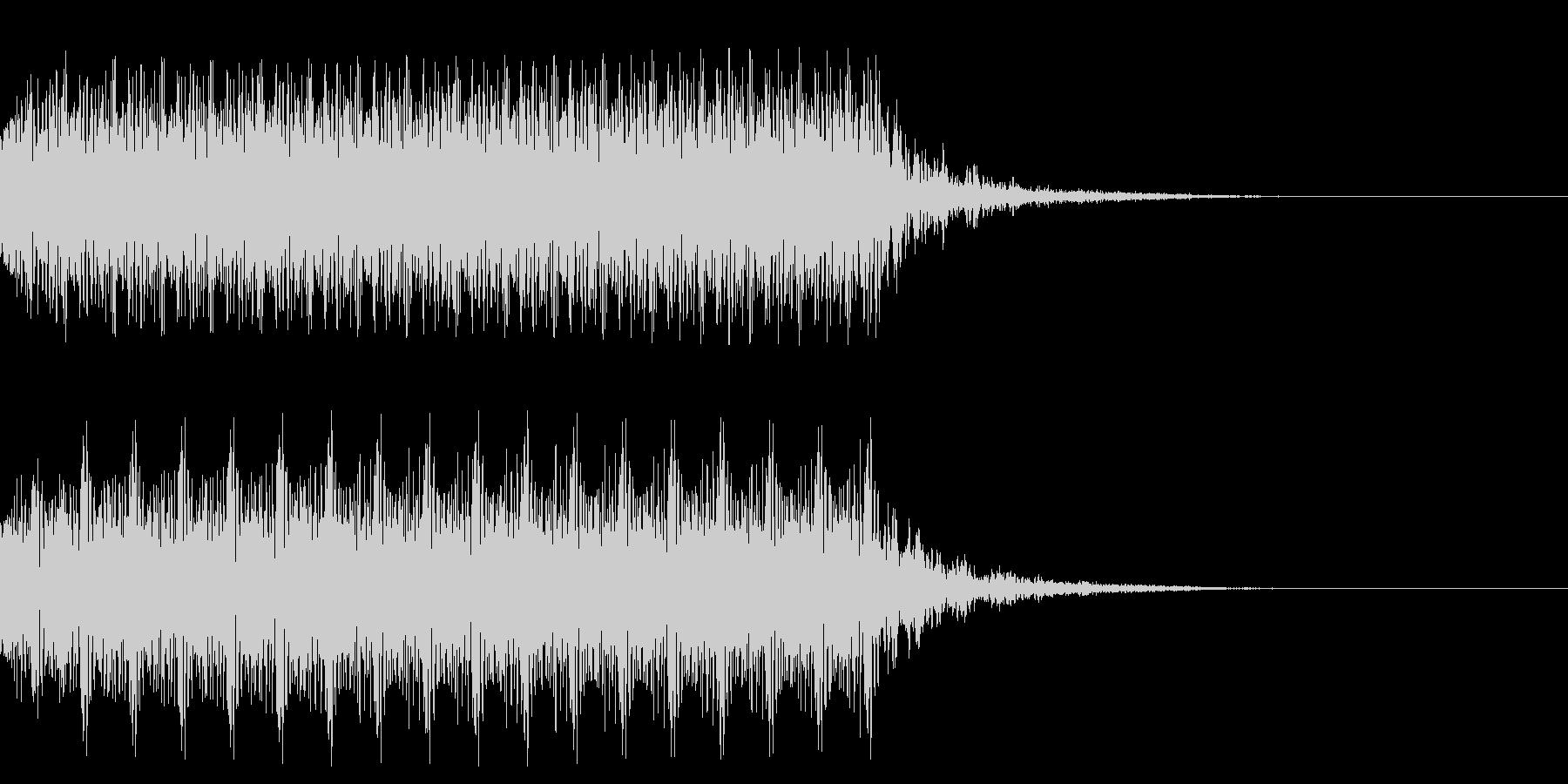 マシンガンの発砲音_その2の未再生の波形