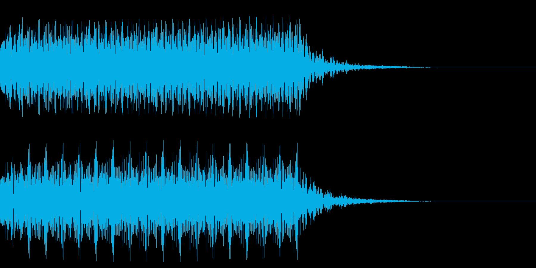マシンガンの発砲音_その2の再生済みの波形