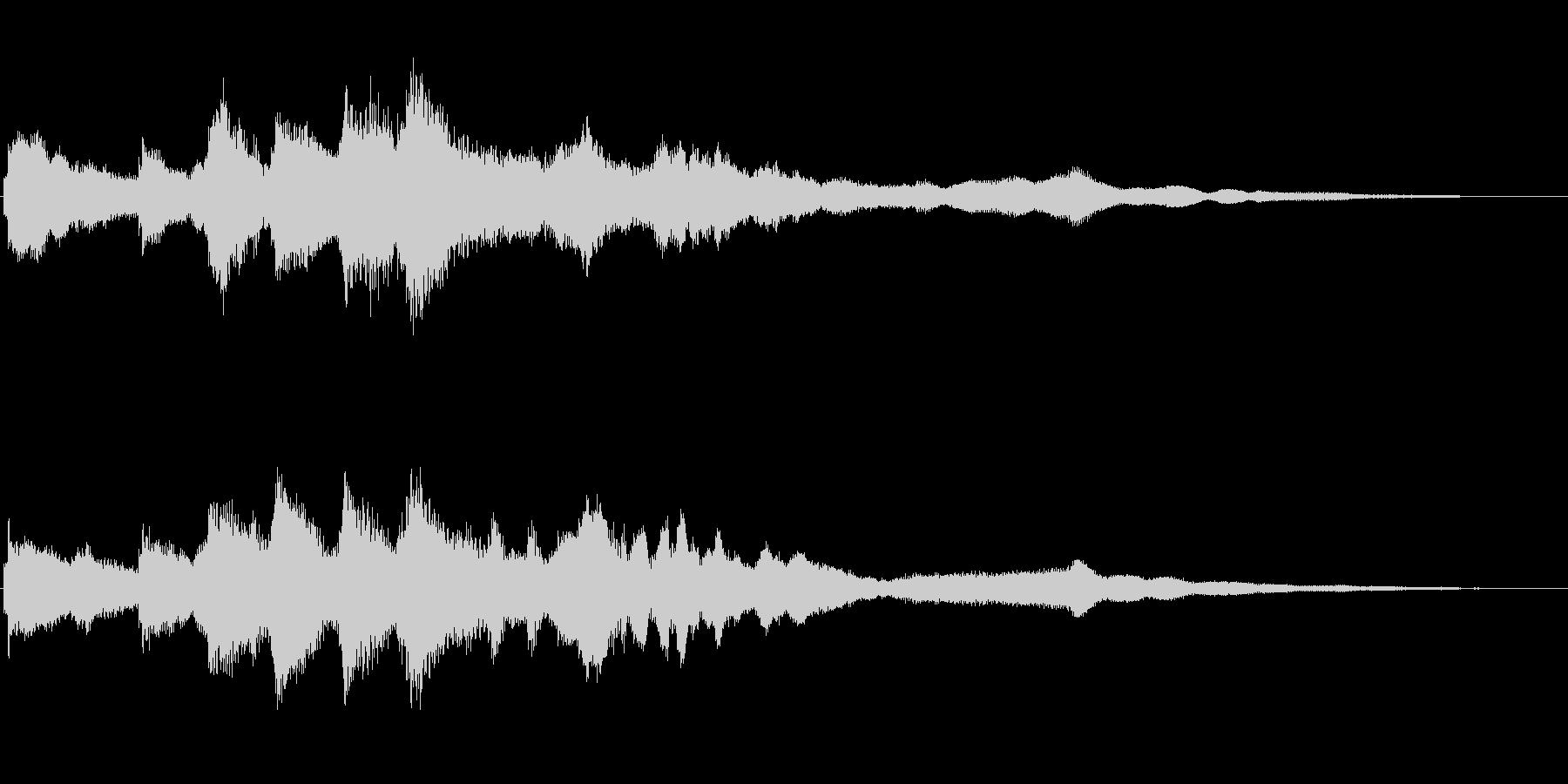 ベルのアイキャッチ音 謎めいた雰囲気の未再生の波形