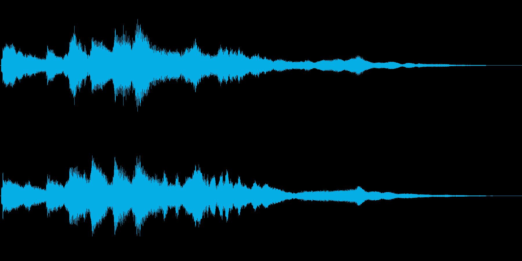 ベルのアイキャッチ音 謎めいた雰囲気の再生済みの波形