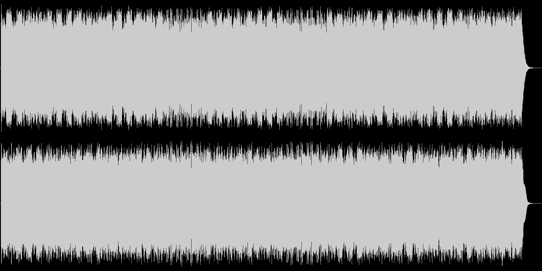 クールで弾けるテクノポップの未再生の波形