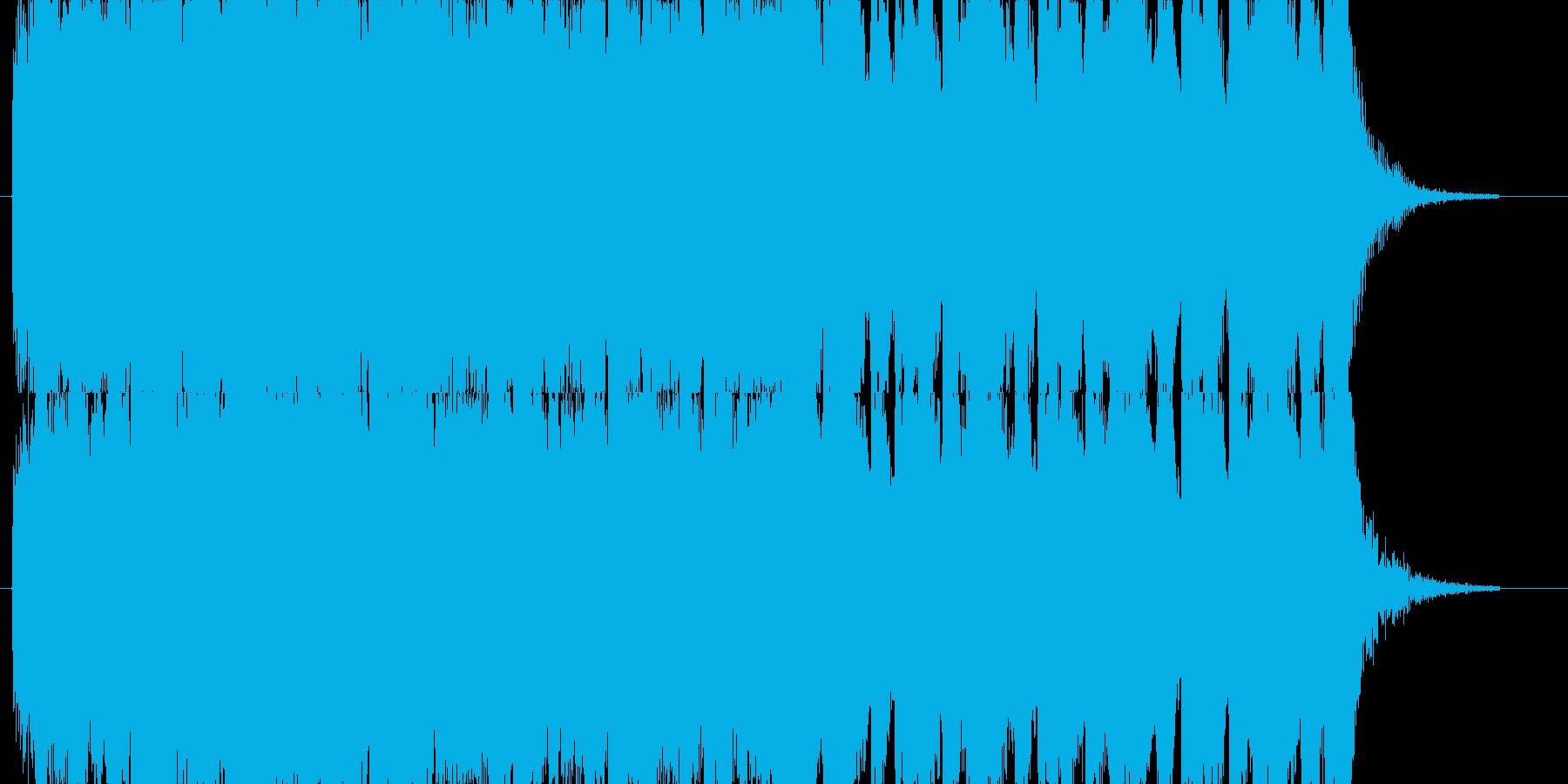 勇壮でパワフルなオーケストラジングルの再生済みの波形