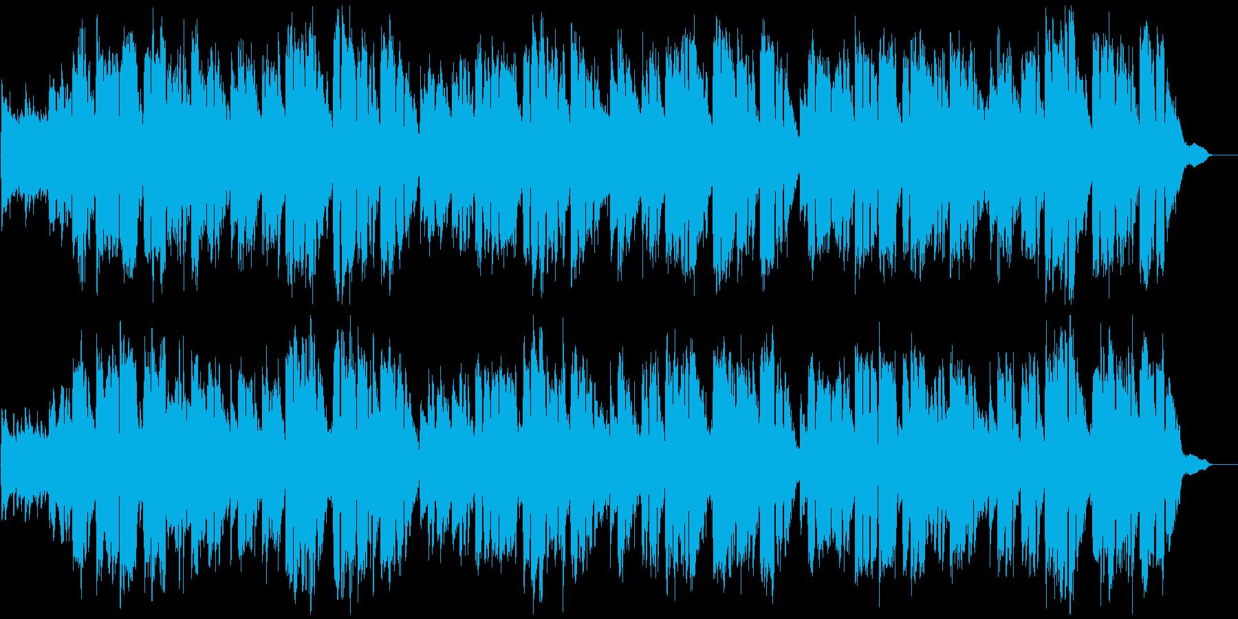 「ふるさと」ピアノ伴奏と女性ボーカルの再生済みの波形