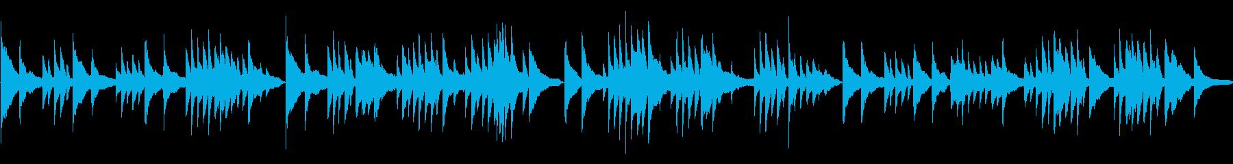 BGMに最適のピアノソロ音源の再生済みの波形