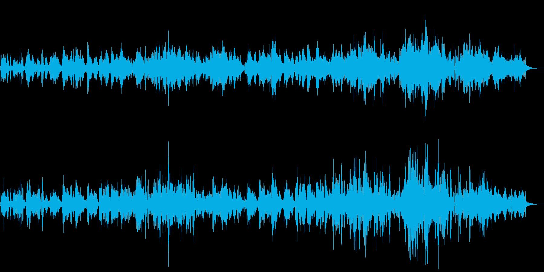 こちらは多重録音バンド「ざくろの森」の…の再生済みの波形