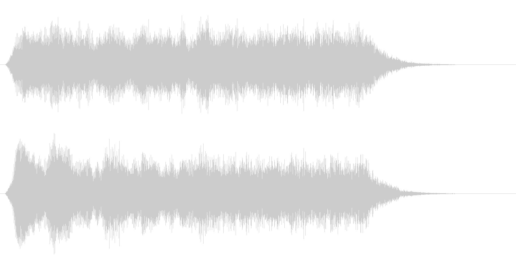 環境音系の効果音です。の未再生の波形