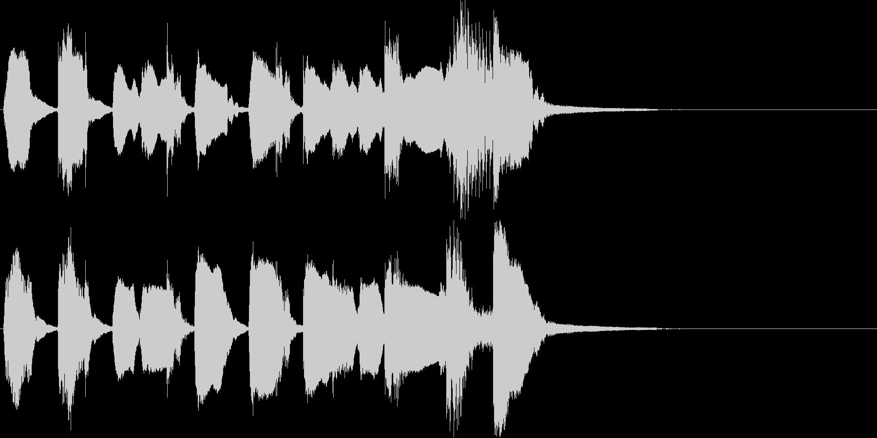キュート、かわいい系のジングルの未再生の波形