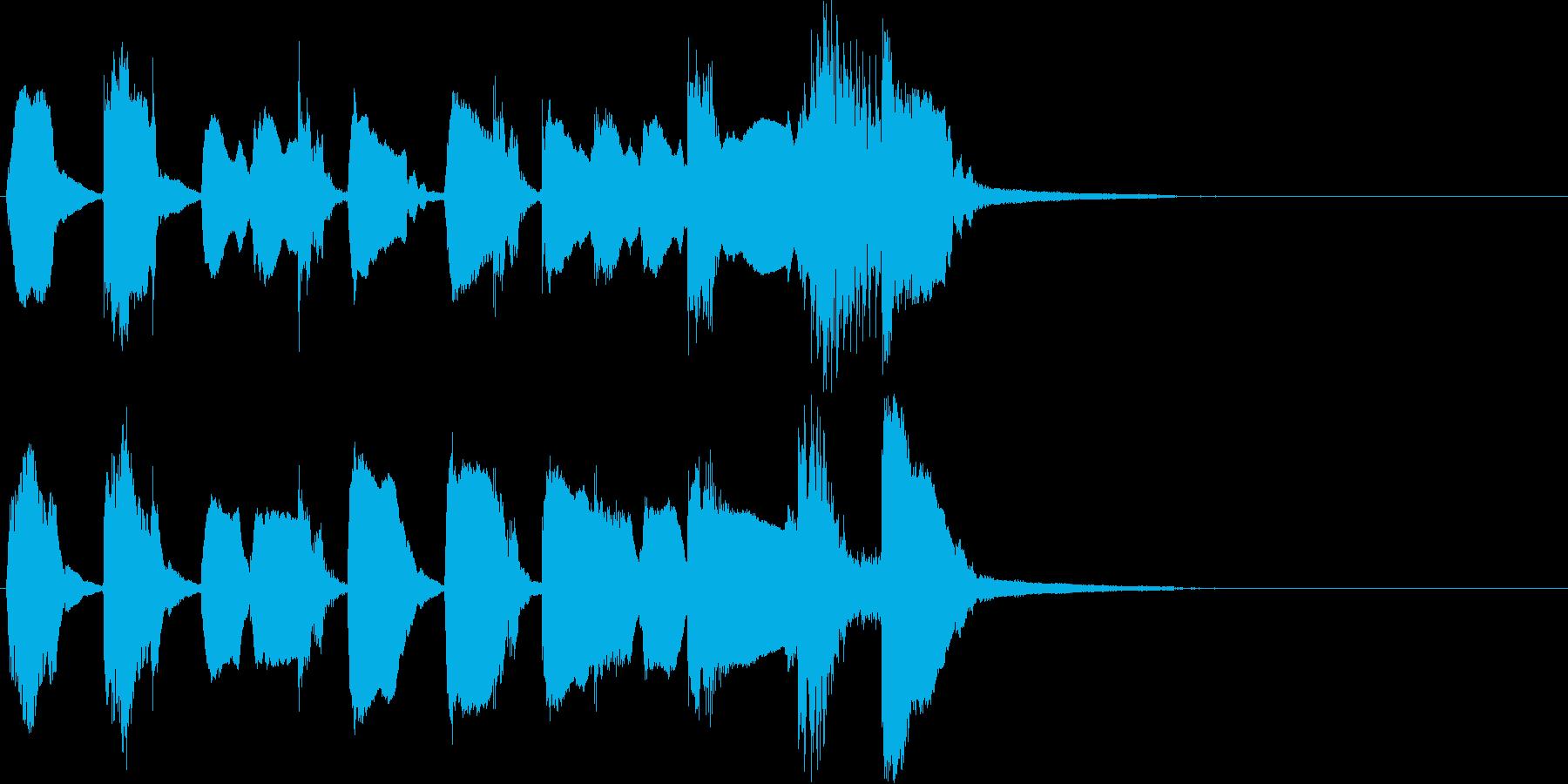 キュート、かわいい系のジングルの再生済みの波形