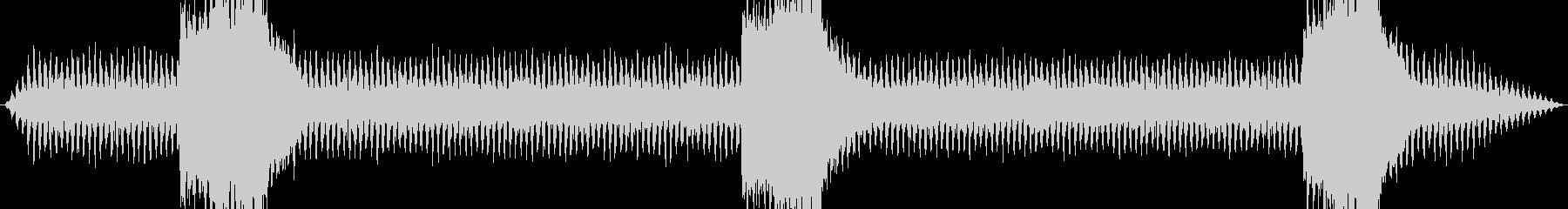 鉄道サウンド 蒸気機関車 走行音 汽笛の未再生の波形