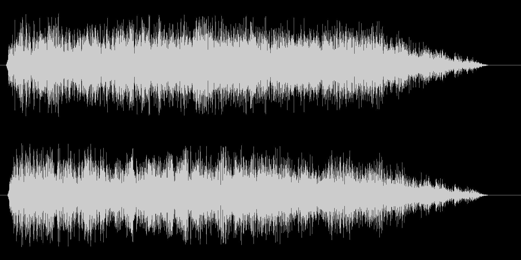 スパン(スネアドラム単発)の未再生の波形