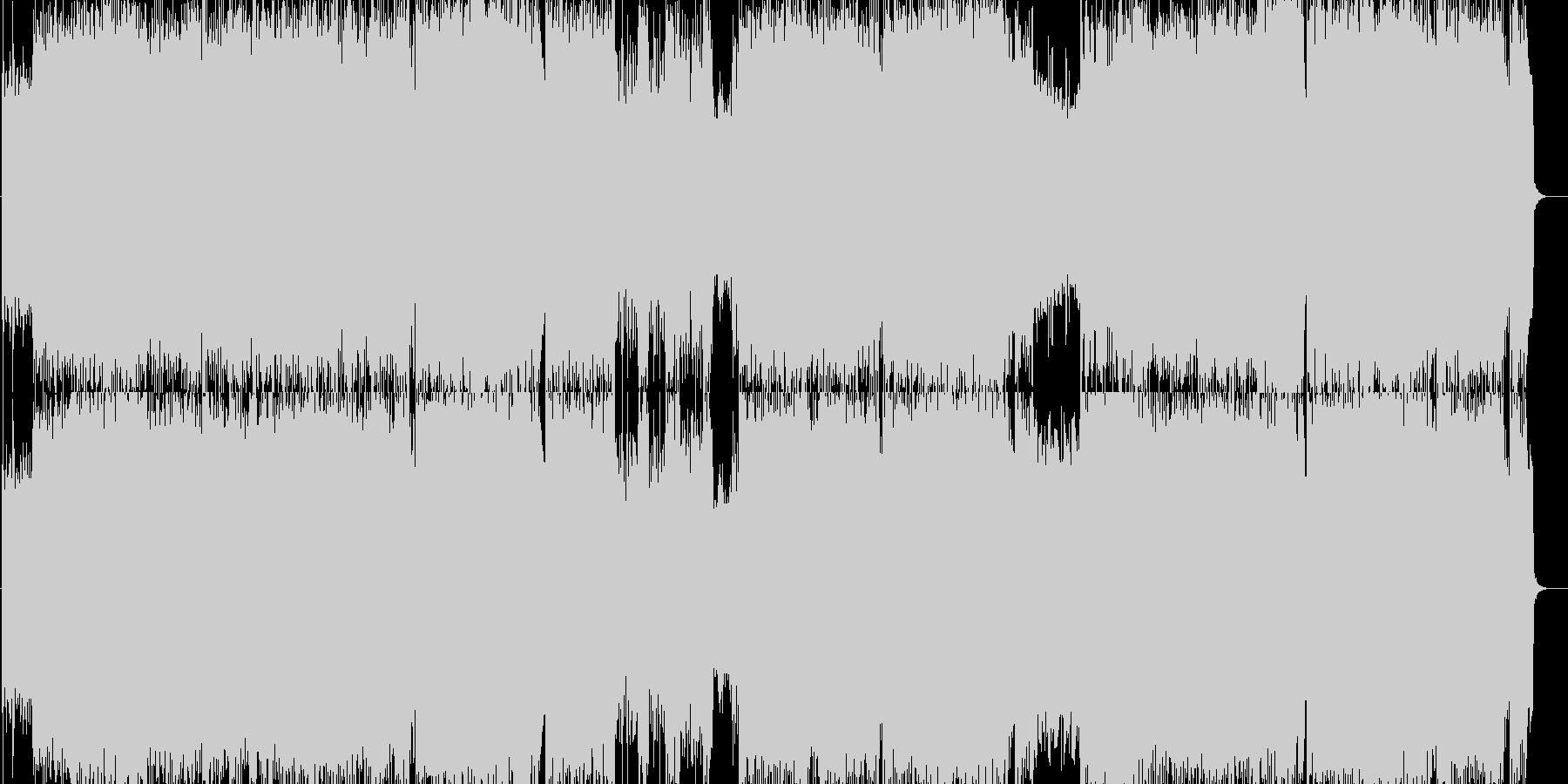 疾走系ヴィジュアルギターハードインストの未再生の波形
