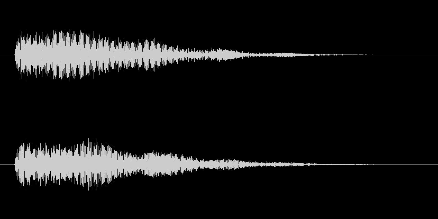 決定/クリック/選択音(和音)の未再生の波形