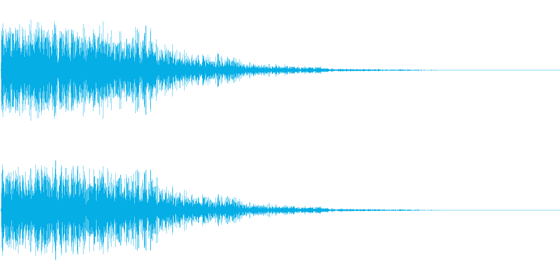 恐怖音の再生済みの波形