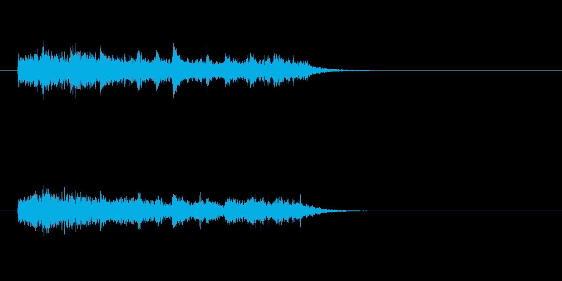 ジングル(恐怖&怪奇風)の再生済みの波形