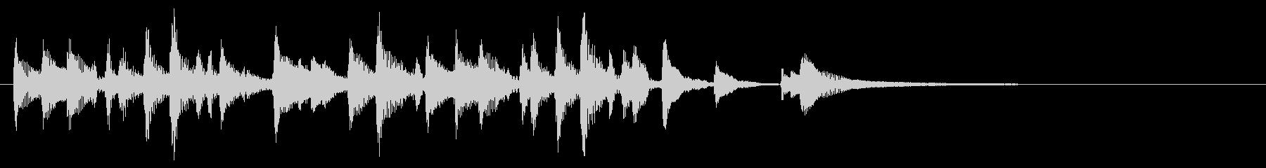 ウクレレハワイアンフレーズ1の未再生の波形