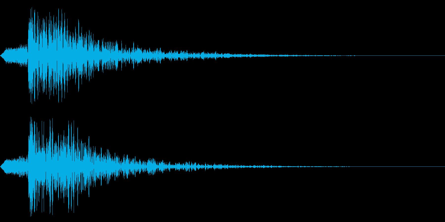 シネマティック ヒット!爆発!02の再生済みの波形