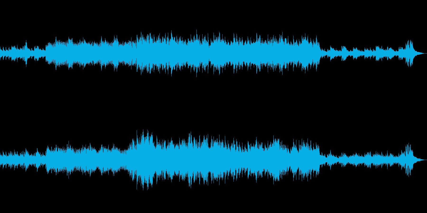 小さな幸せのシーンをフルートとピアノでの再生済みの波形