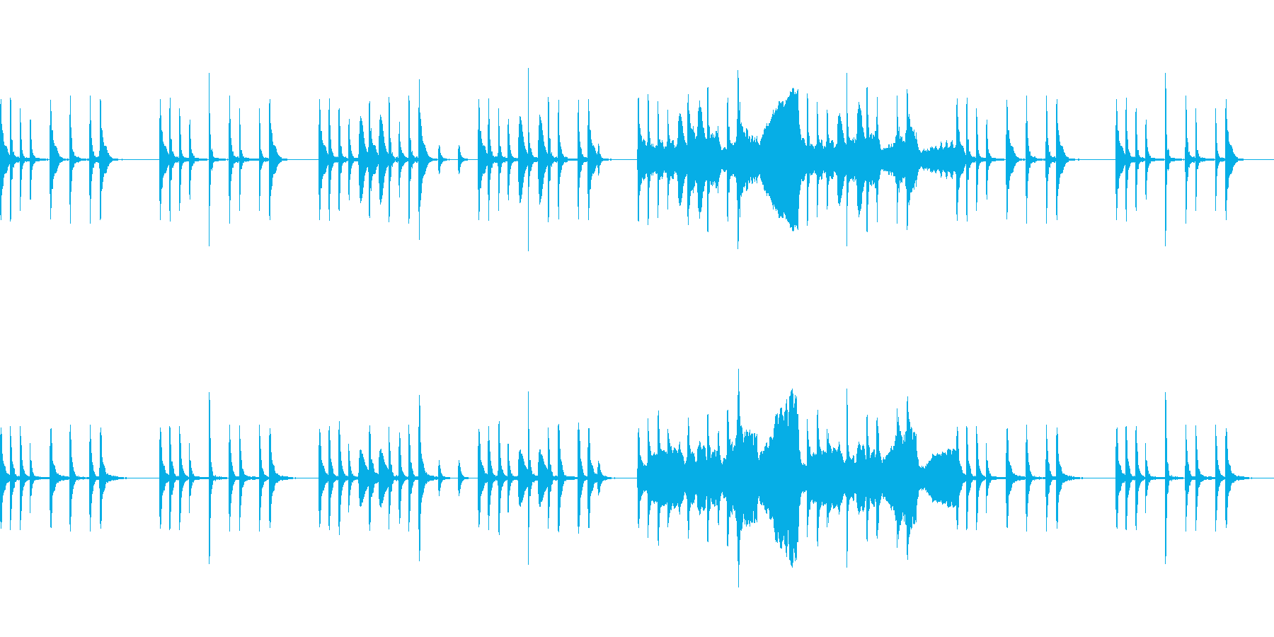 弦楽器メインの日常系BGMの再生済みの波形