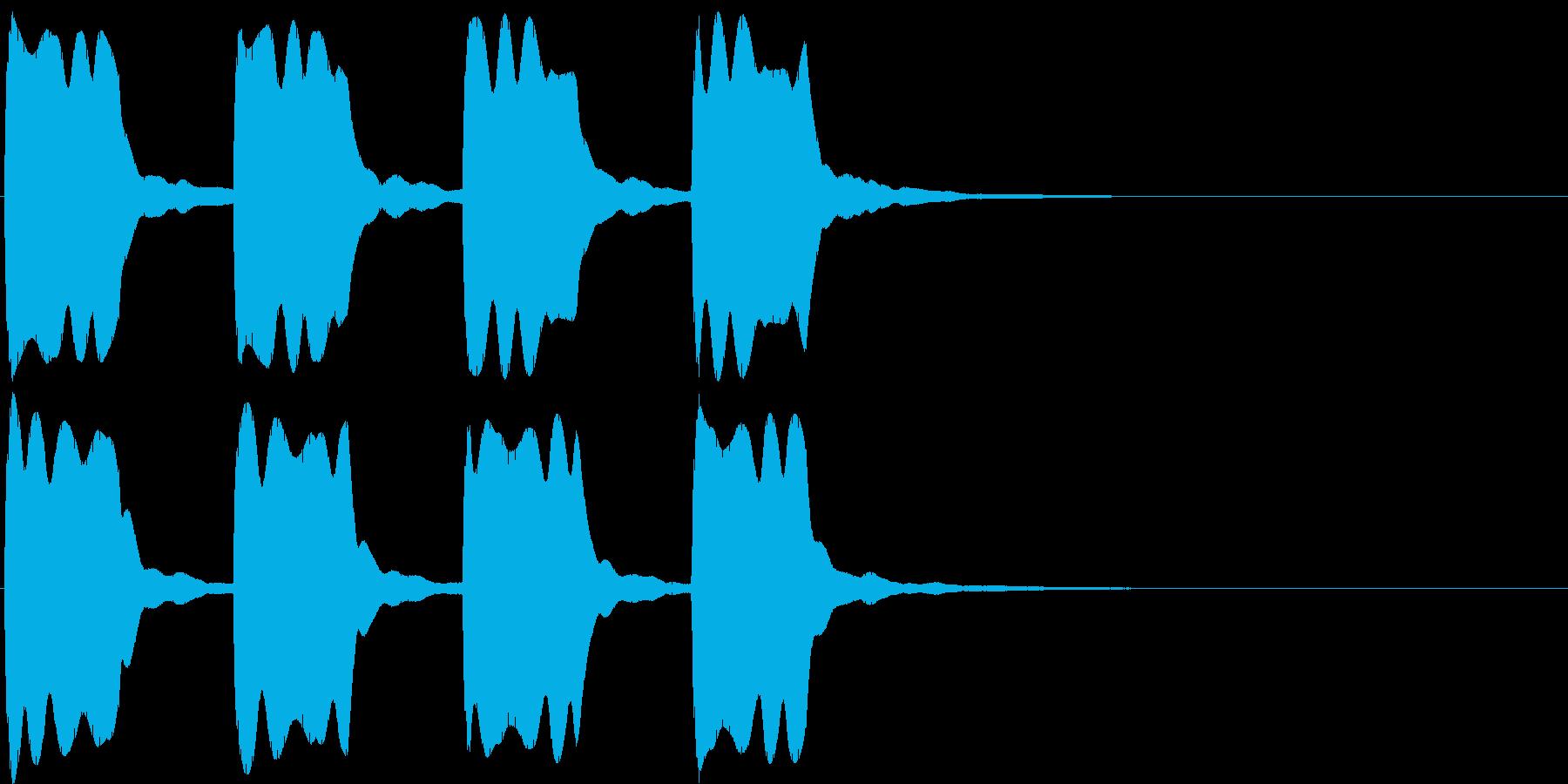 ピーピー。緊急事態の警報音Aの再生済みの波形