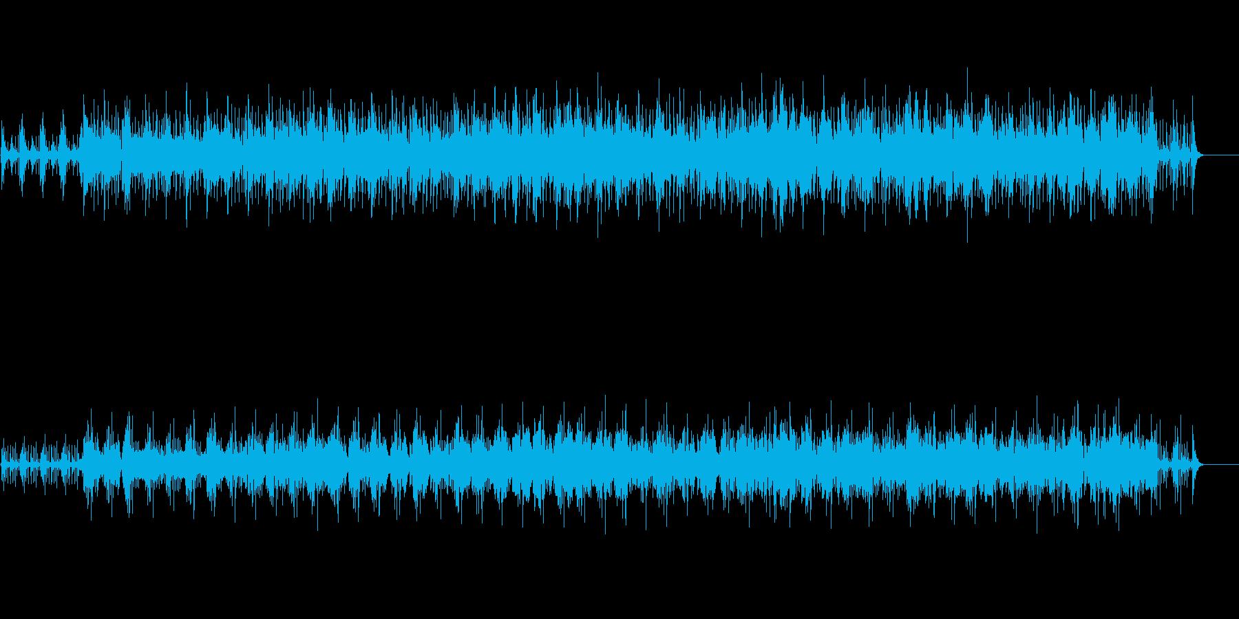 淡々としたアンビエント・ミュージック風の再生済みの波形