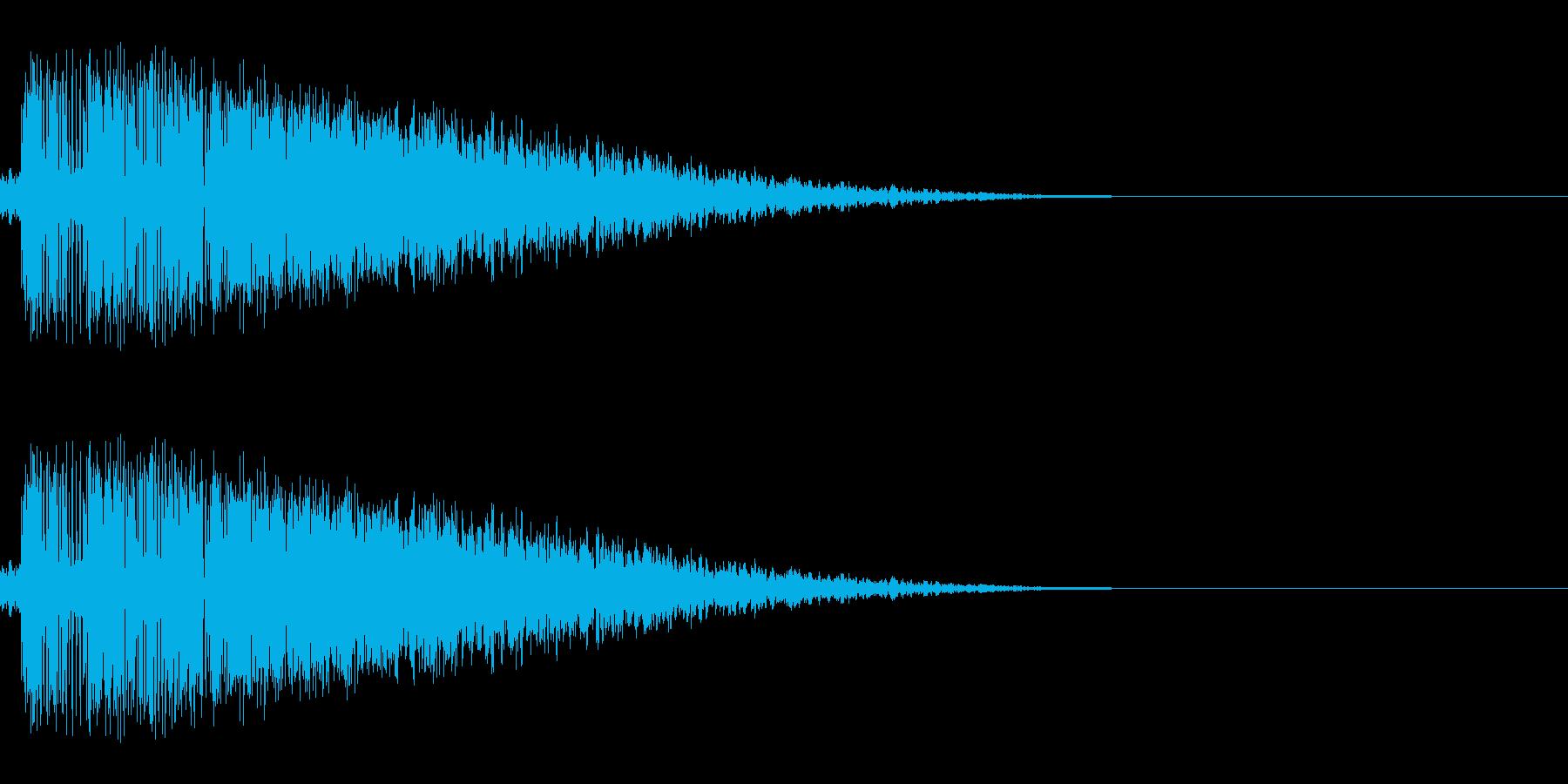 キーン(刀/剣/決定音/アプリ)の再生済みの波形