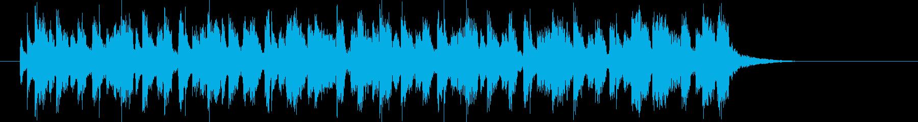 元気で躍動感あるシンセポップジングルの再生済みの波形