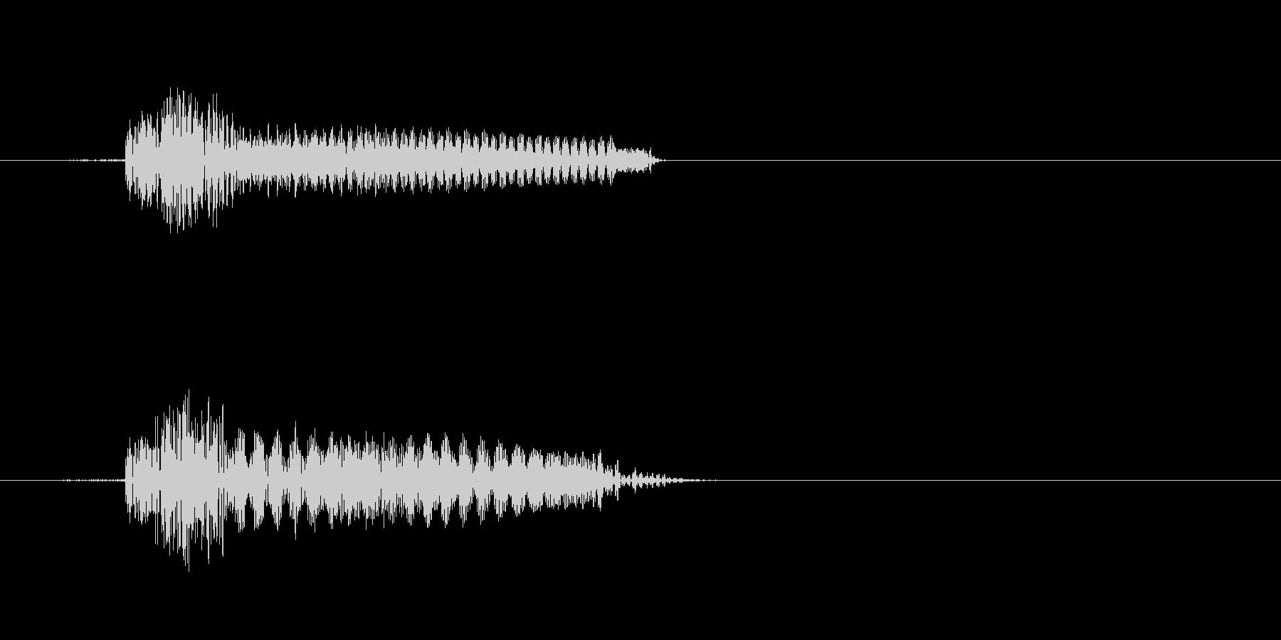 カチッなる軽快なかわいい効果音の未再生の波形