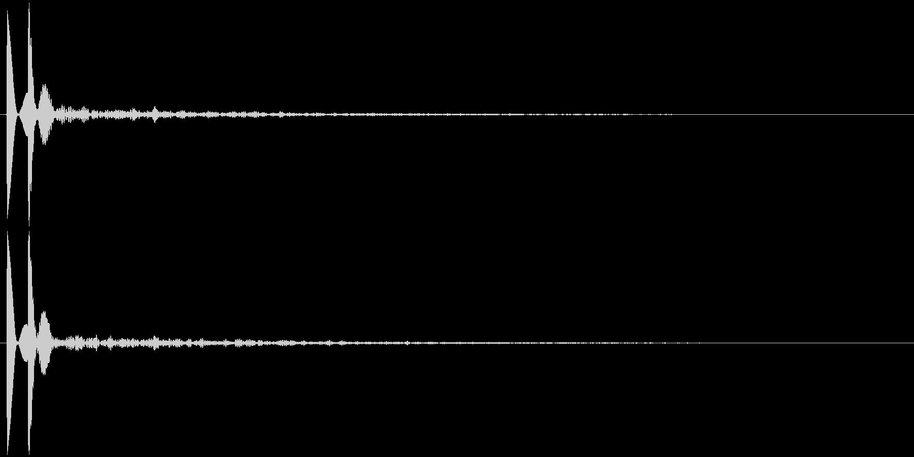 ソナーのような短信音で作ったキャンセル音の未再生の波形
